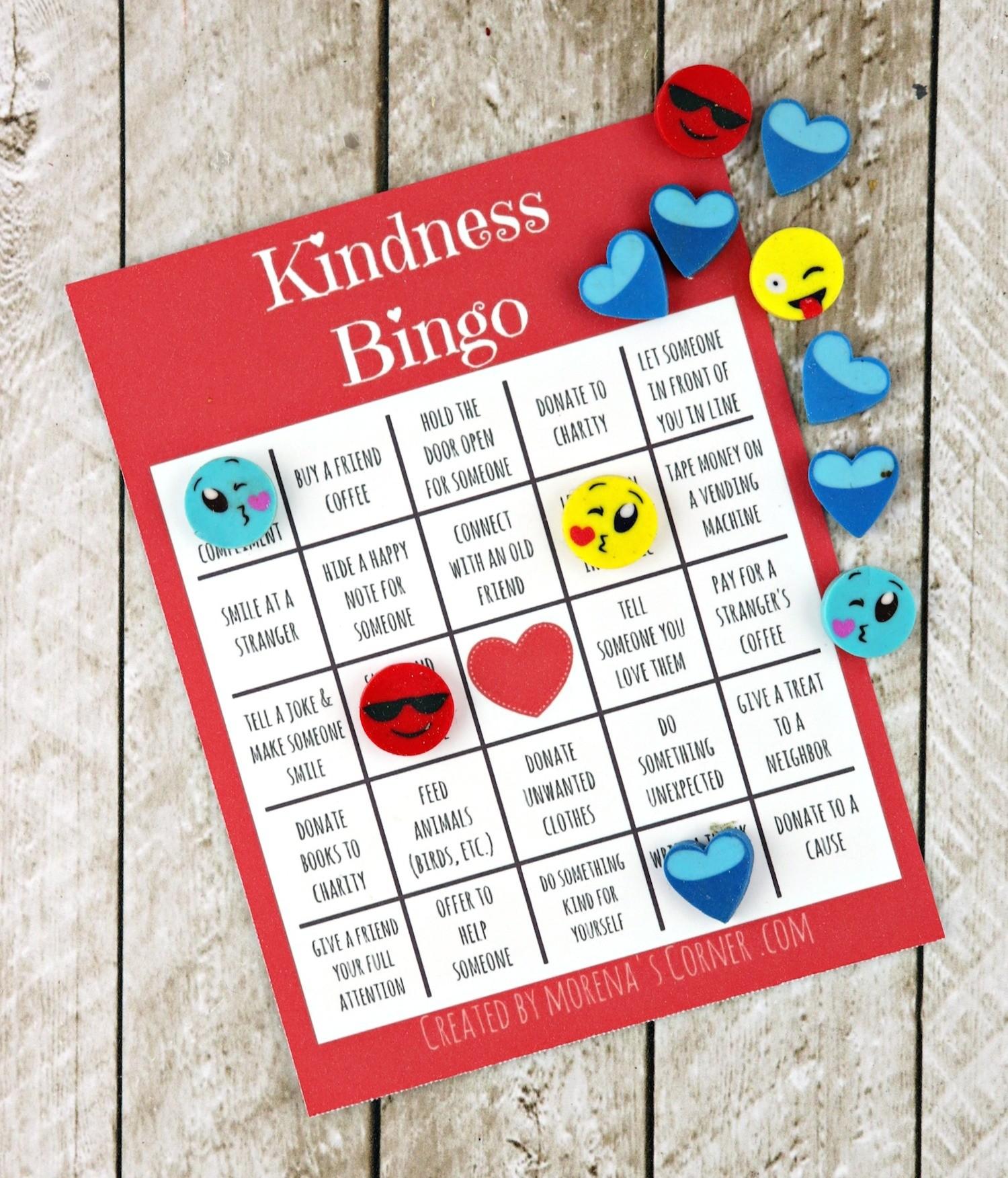 kindness bingo printable