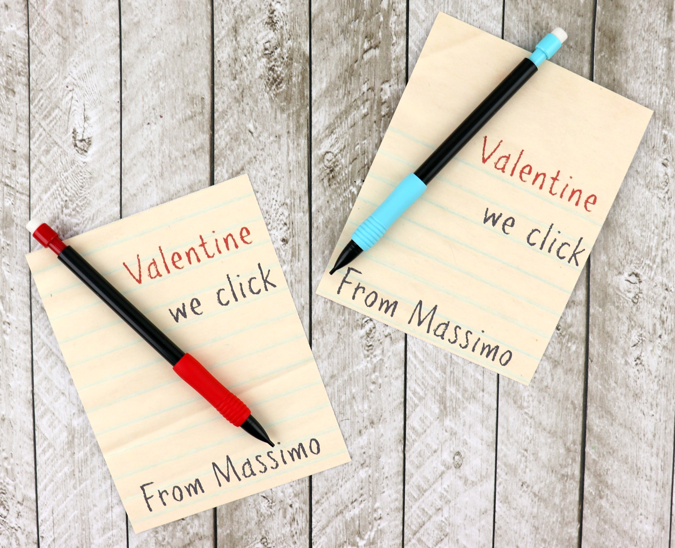 valentine pencil printable