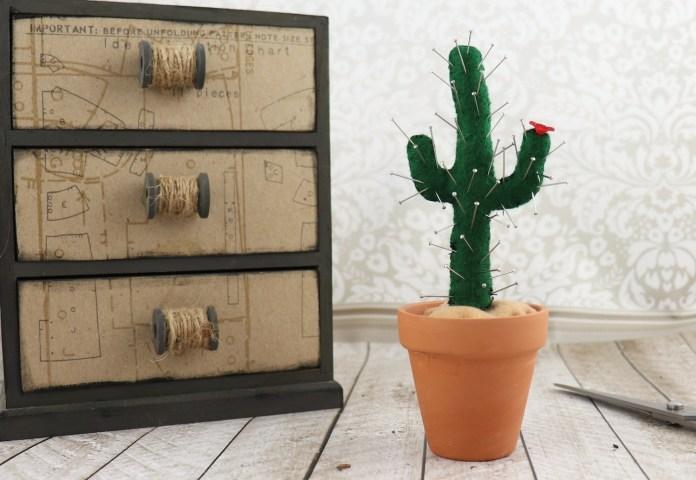 pin cushion that looks like a cactus