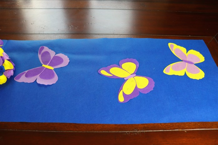 DIY butterfly table runner