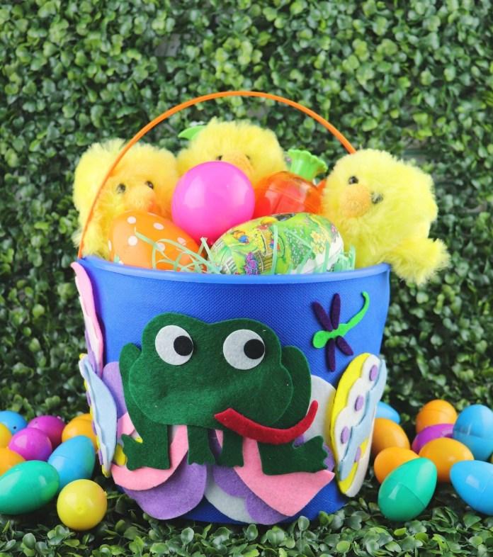 DIY frog Easter basket