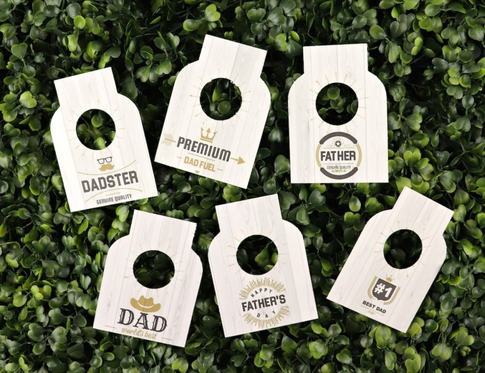 bottle tags for dad printable