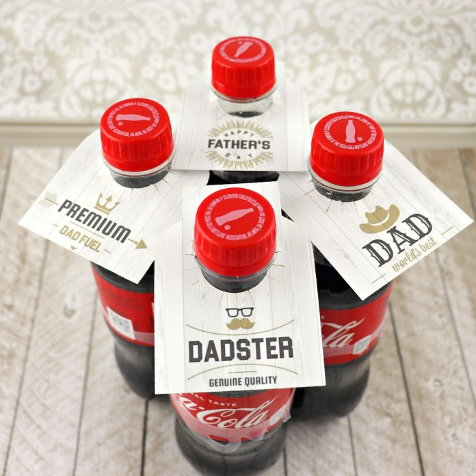 bottle tags printable for father's day
