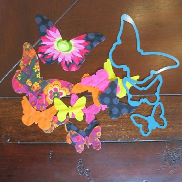 crafter's edge fabric dies butterflies