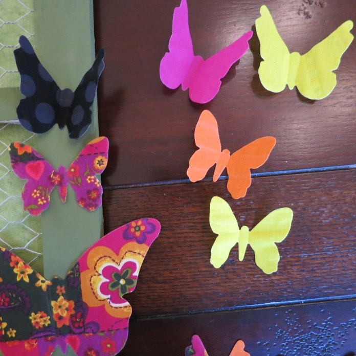die cut fabric butterfly