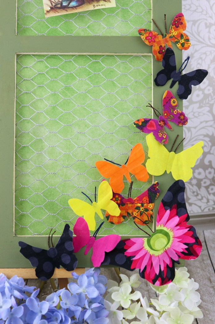 make fabric butterfly frame