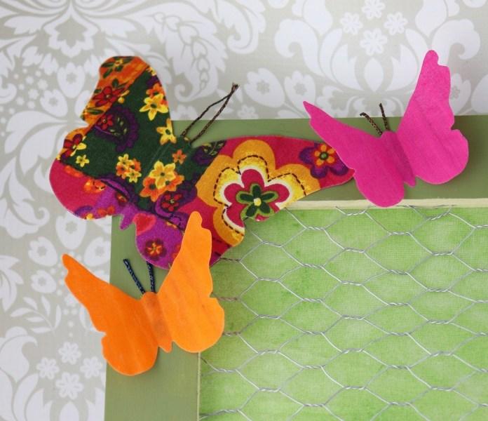 make fabric butterflies