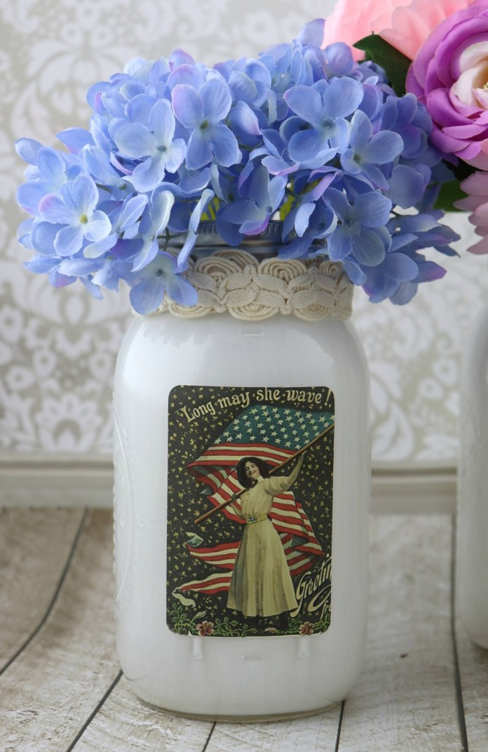 fourth of july mason jar decor
