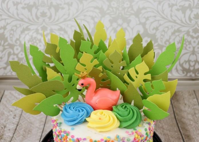 tropical cake topper DIY