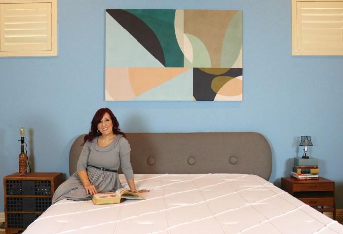 mid century modern bedroom wall art