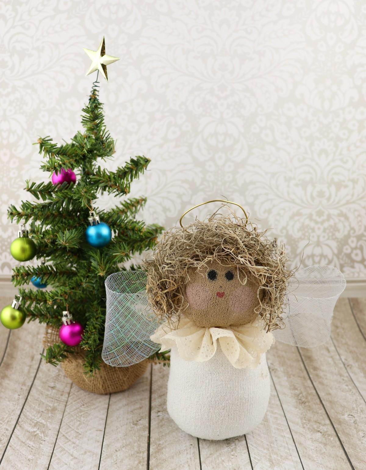 sock angel tutorial for christmas in july