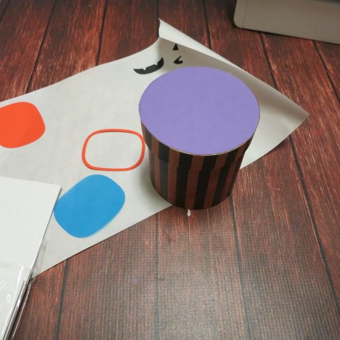 decorate paper mache container