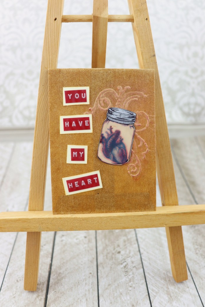 heart in jar gift card holder
