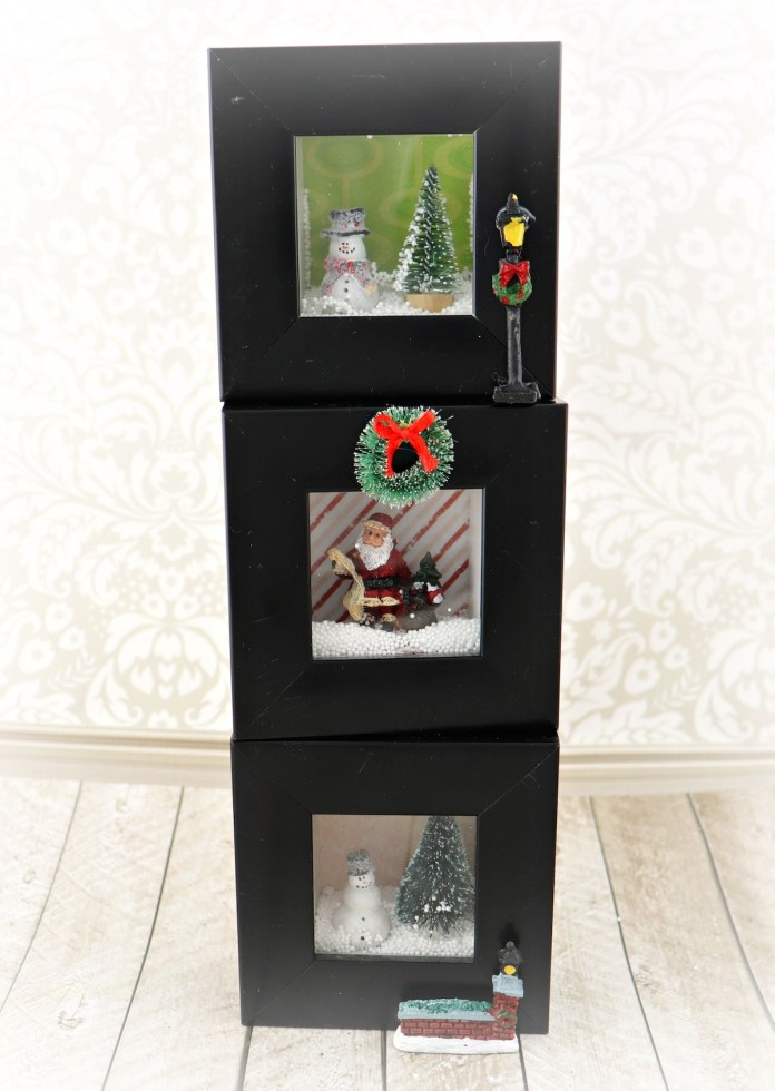 DIY shadow box holiday decor