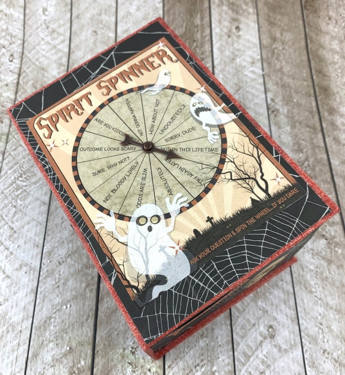 halloween candy baskets with spinner game
