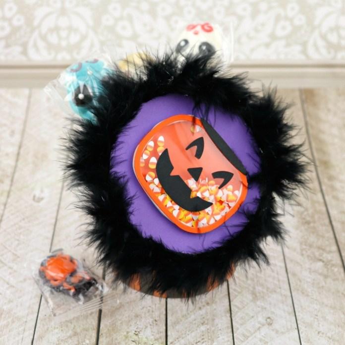Jack O Lantern Halloween candy treat box