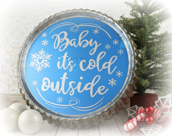pie tin decor winter wall art