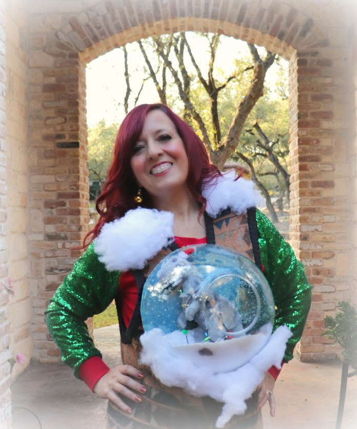 learn to make a snow globe ugly sweater