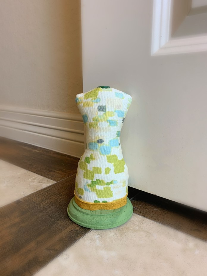 DIY mannequin door stopper