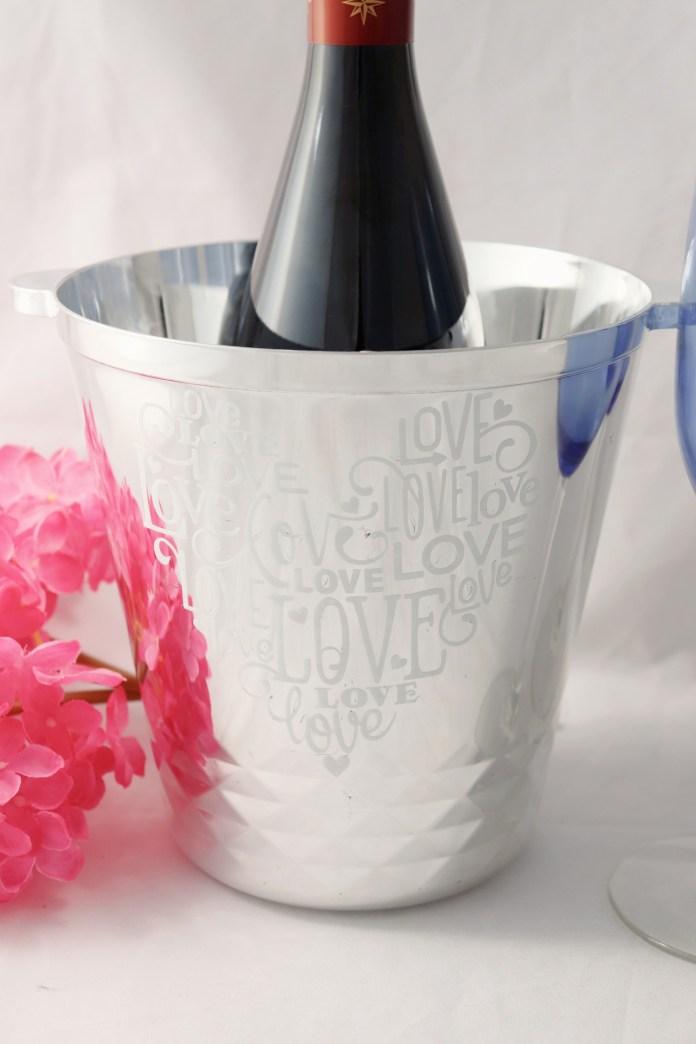 glass etched vinyl bucket