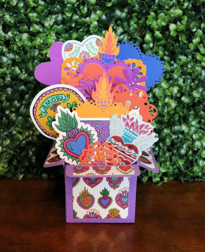 fiesta party theme exploding heart box