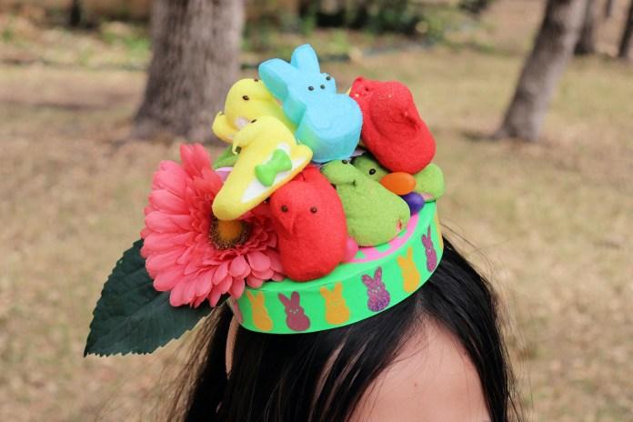 Peeps easter hat DIY