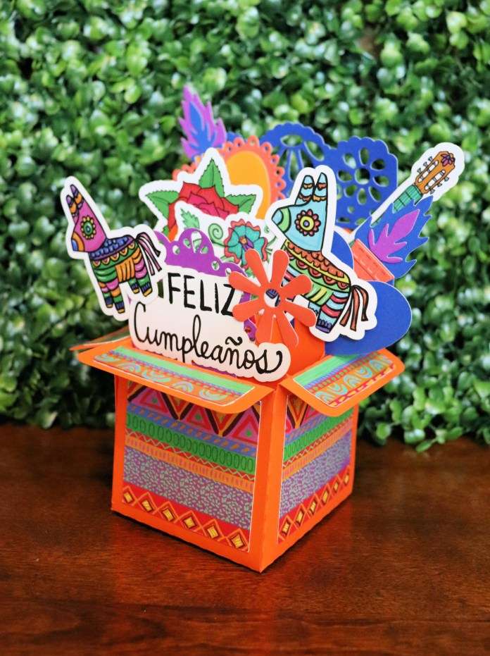 fiesta exploding card box