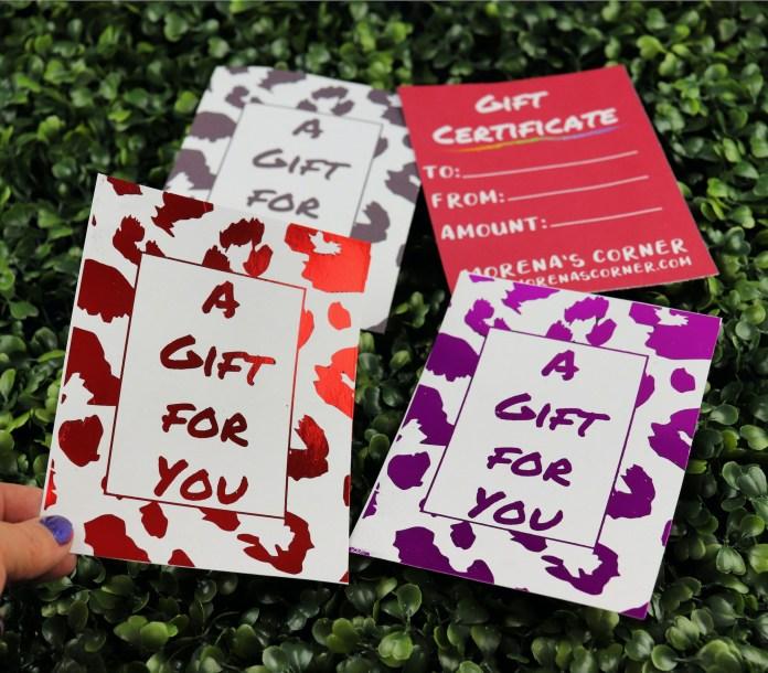 foil gift certificates