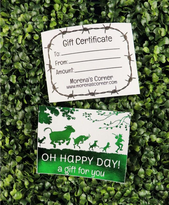 foil gift certificate DIY