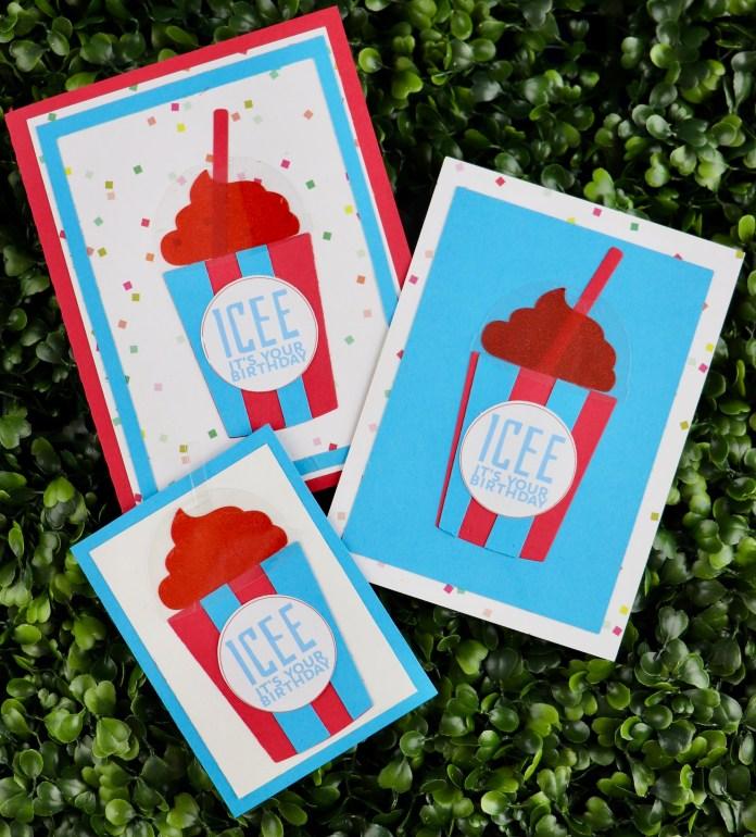 icee birthday card DIY