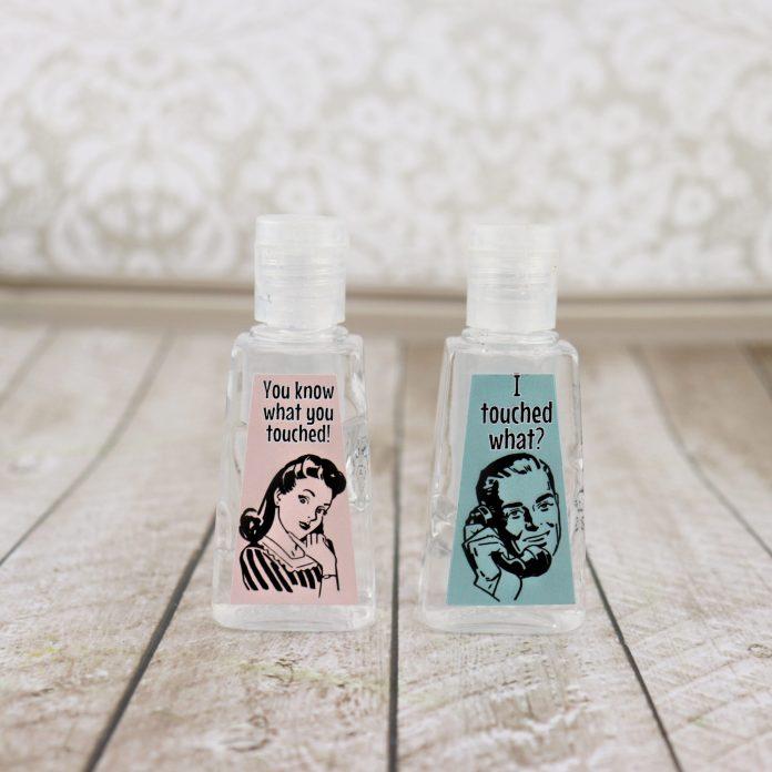 funny hand sanitizer bottles