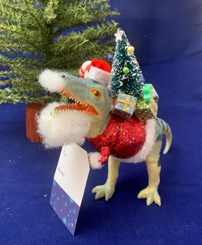 dinosaur santa trex