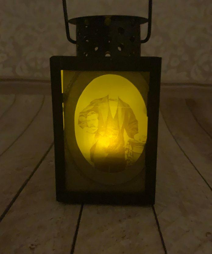 scary DIY lantern