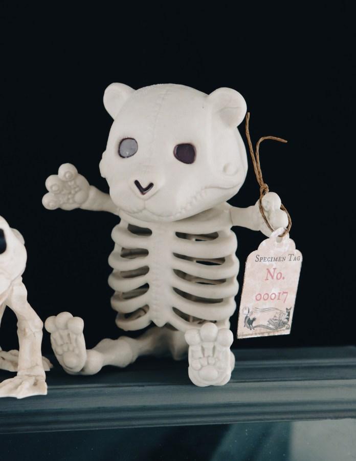 halloween specimen decor tag