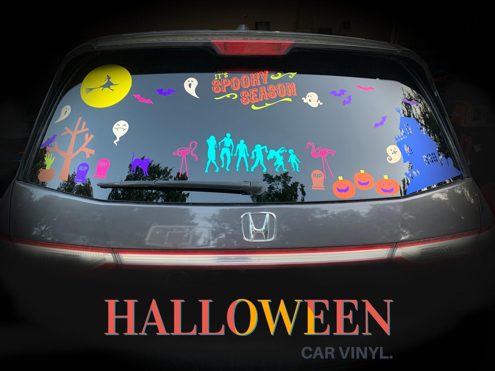 make halloween scene car vinyl