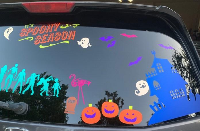 spooky halloween car vinyl