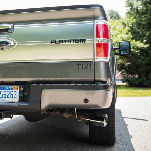 roush performance side exit exhaust for 2011 2014 ford f 150 5 0l 6 2l and 3 5l ecoboost