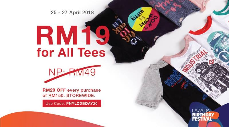RM19 on all Tees | Poney @ Lazada