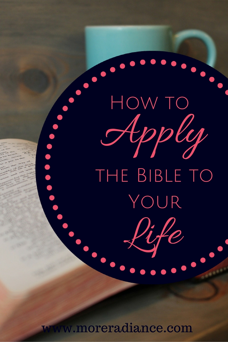 Do you apply the Bible to our life? Here is one simple tip to start applying the Bible to our lives.