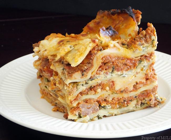 lasagna and cake 092