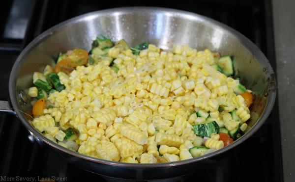 Zucchini and Corn Saute