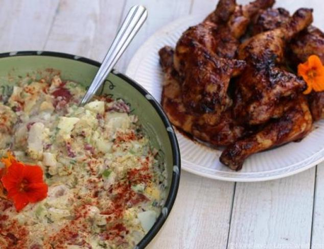 BBQ Chicken and Potato Salad