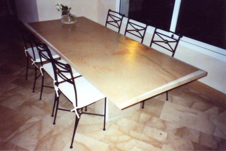 table salle a manger en pierre de corton bourgogne