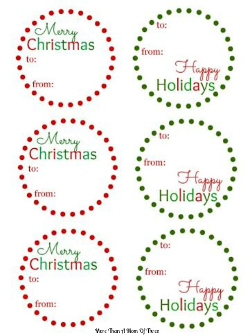 Christmas Gift Tags For Kids.Free Christmas Gift Tags Printable More Than A Mom Of Three