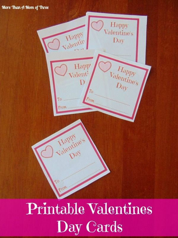 Simple Printable Valentines Day Cards For Your Kids