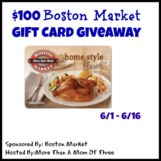 Boston Market Giveaway