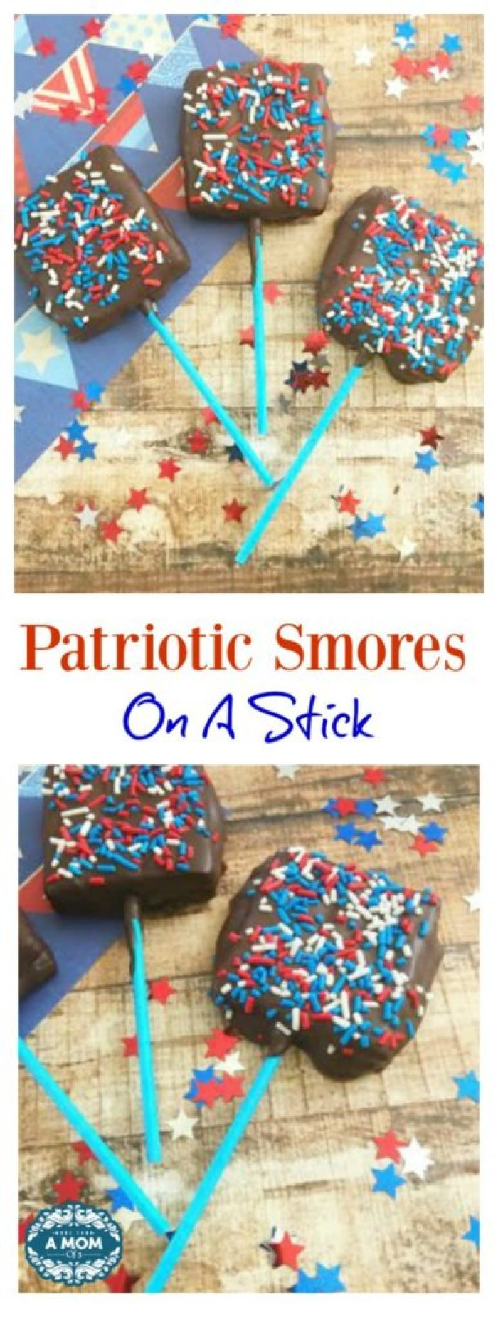 Patriotic Smores On A Stick For Memorial Day