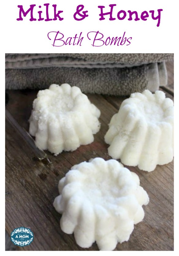 These Milk and Honey Bath Bombs are a great diy beauty product to make from home.