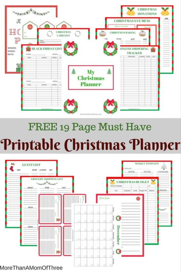 It is a graphic of Terrible Christmas Planner Printable