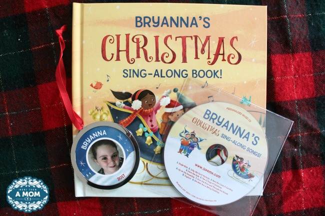 My Christmas Sing-Along Book & Songs with Personalized Ornament Giftset
